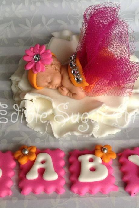 TUTU BABY SHOWER cake topper girl