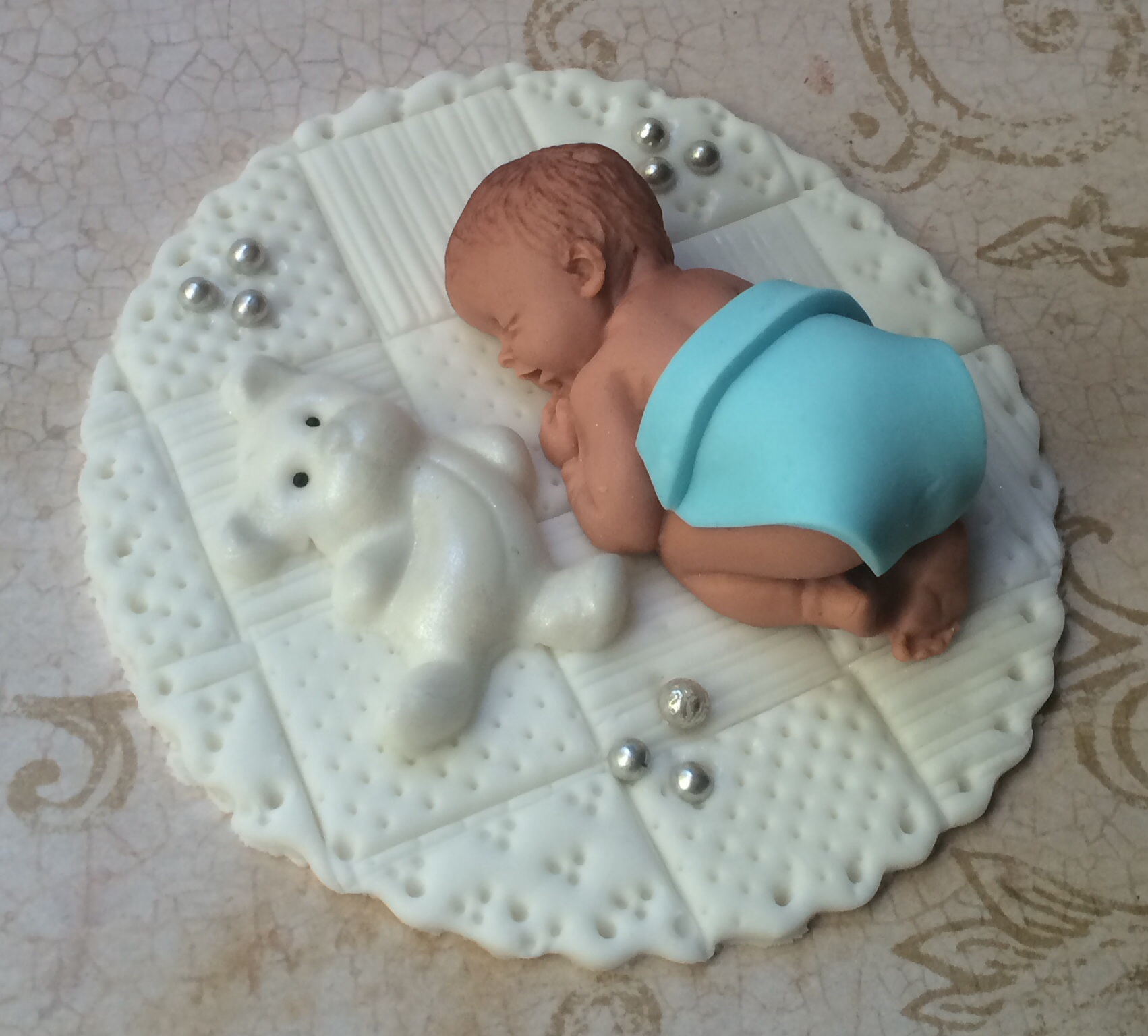 Boys Baby Shower Cake: BABY BOY SHOWER FONDANT CAKE TOPPER BABY SHOWER